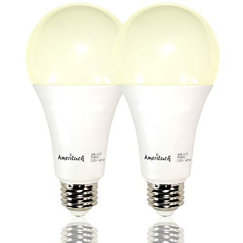 AmeriLuck 150W Equivalent A21 LED Light Bulbs, 2200Lumens 20W, 3000K Warm White (2 Pack)