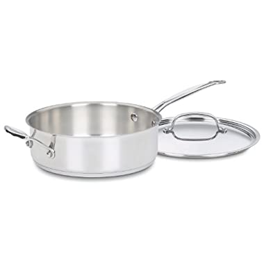 Cuisinart 733-24H Chef's Classic Stainless 3-1/2-Quart Saute Pan with Helper Handle & Cover