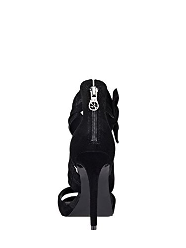 GUESS Women's Azali Heeled Sandal Black Suede cheap outlet clearance wholesale price footaction cheap online discount best wholesale nIFuHwGZ1