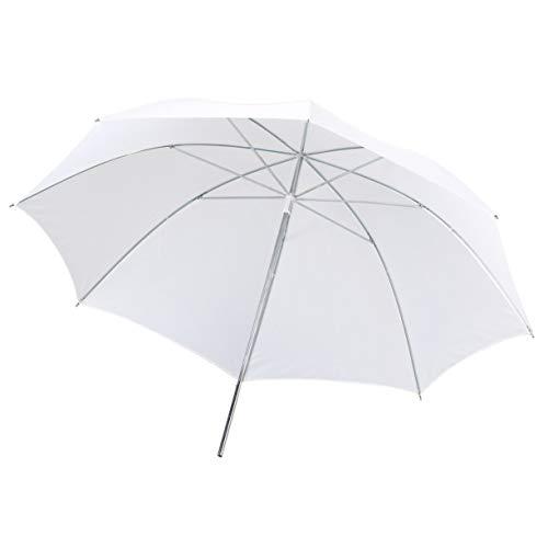 Translucent White Diffuser Umbrella, Portable Lightweight 33in 83cm Pro Studio Photography Flash Translucent Soft Lambency Umbrella White Nylon Material Aluminum Shaft
