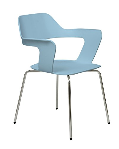 KFI Seating 2500CH Julep Series Stack Chair with Flex Poly Shell, Sky ()
