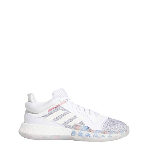 adidas Men's Marquee Boost, White/Shock Cyan, 10 M US