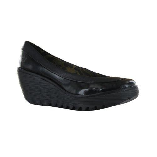 Fly London Women's Yoko Court P500335019 Black Slip On 9