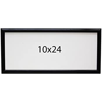 panoramic oak 10x24 picture frame black