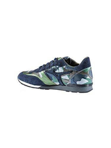 Mizuno , Herren Sneaker Camouflage Blue
