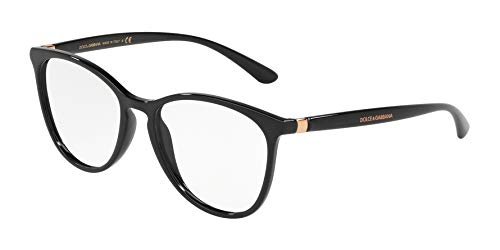 Dolce & Gabbana Eyeglasses D&G DG5034 DG/5034 501 Black/Gold Optical Frame 53mm