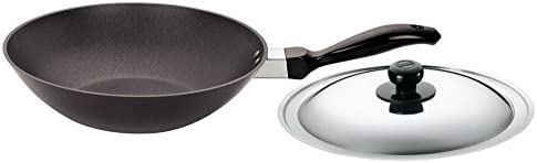 Futura Non-Stick Deep-Fry Pan Kadhai 2.0 Litre with Steel Lid and Flat Bottom