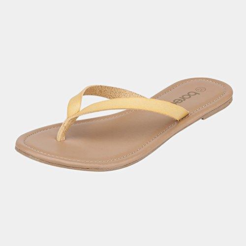 casuales moda Zapatillas Color verano de 3 EU39 5 Zapatillas Tamaño antideslizantes planas CN39 de femenino de UK6 playa Slipper nCqwBPAYXn
