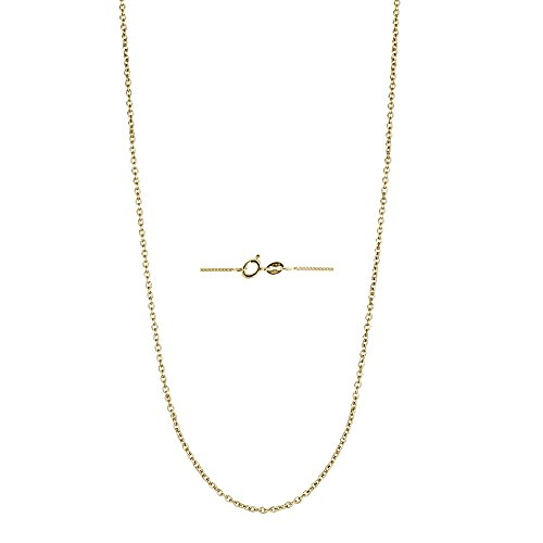 (Decadence Unisex Sterling Silver Yellow 1.10mm 20