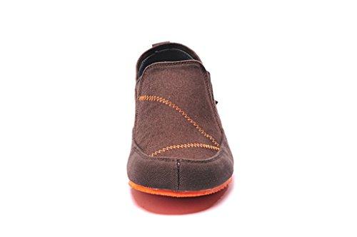 Senximaoyi Ventilatie Casual Schoenen Canvas Schoenen Lui Zachte Bottom Schoenen Doug Rijden, Bruin, 9