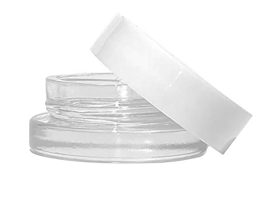 7ml Glass Jars with White Lids (90-Pack) Lip Balm - Concentrate Containers - homemade ()