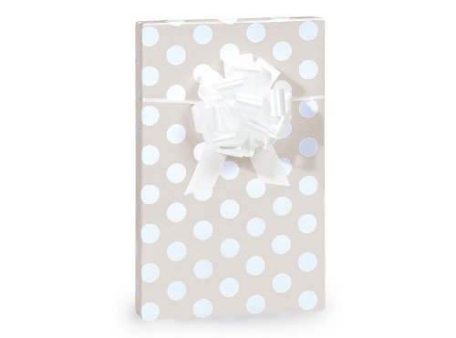 Polka Dot Wedding Gift Wrap Paper - 16 Foot Roll