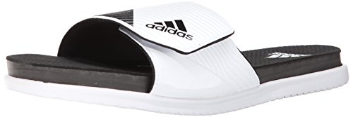 adidas Performance Men's SUPERCLOUD Plus M Slide Sandal, White/Core Black/Clear/Grey, 13 M US