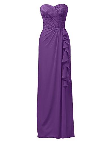 Dress Column Strapless Long Alicepub Dress Women's Evening Dress Purple Party Bridesmaid qzp6gwxH