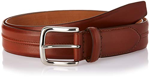 Cole Haan Men's 35mm Burnished Leather Belt with Pinched Seam Detail, Woodbury, 36
