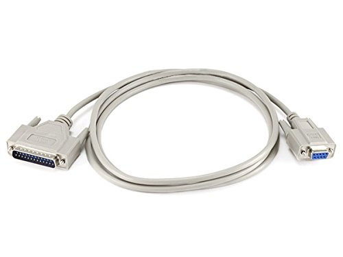 Monoprice 6-Feet Null Modem DB9F/DB25M Molded Cable (100479)