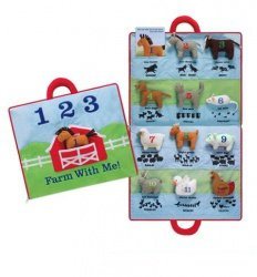 North American Bear 17'' X 18.5'' Farm Animal Activity Mat by North American Bear
