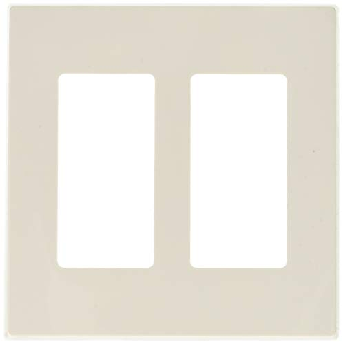 (Leviton 80309-SW 2-Gang Decora Plus Wallplate Screwless Snap-On Mount, White, 20-Pack)