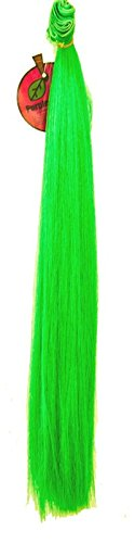 [17 Inch Straight Weft - Lime Green 40 inch strip of hair weft] (Lime Green Wigs)