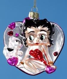 - Midsouth Products Betty Boop Ornament Glass Heart