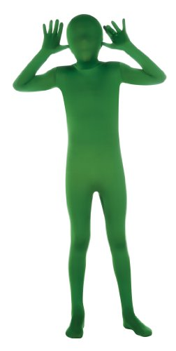 Costumes Skin (Child's Green Second Skin Suit, Large)