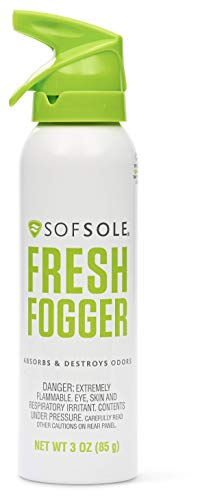 Sof Sole Fresh Fogger Shoe, Gym Bag, and Locker Deodorizer Spray, 3-ounce (Best Way To Remove Antiperspirant Stains)