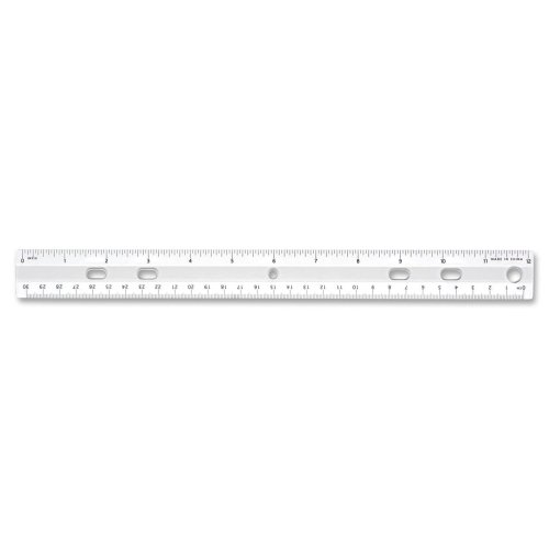 (Sparco Standard Metric Ruler - 12 Length 1.3 Width - 1/16 Graduations - Metric, Imperial Measuring System - Plastic - 1 Each - Clear )