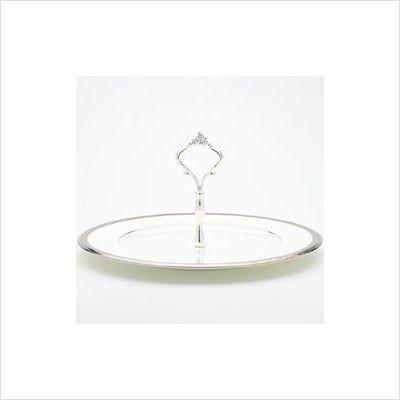 (Noritake Chatelaine Platinum Handled Hostess Tray)