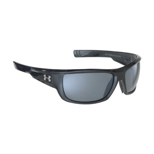 Under Armour Rumble Polarized Sunglasses,Shiny Black Frame/Gray and Multi Lens,One Size, Outdoor Stuffs