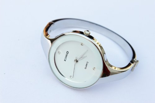 Elegent fashion round face lady's women's bracelet bangle wrist quartz (Face Bangle Fashion Watch)