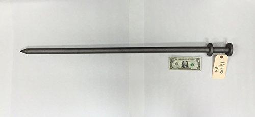 ソリッドスチールStakes for、テント、Inflatables (4 -パック)、12-inch 40-inch長時間、1 /2インチを1-and-1 /4インチ直径(シングルヘッド、ダブルヘッド、NOヘッドブラック鉄筋、フック) 40-Inch Length, 1-and-1/8-Inch B01FWI2BK6