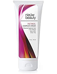 RETINOL COMPLEX CREAM by nieuw beauty. Retinol Moisturizer face Cream for Women and Men. With 2.5% Active Retinol, Hyaluronic Acid, Vitamin E. For All Skin Types (2 oz)