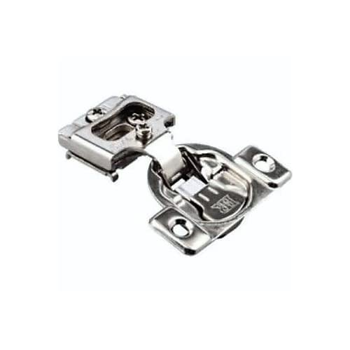 """10 Pack - Integrated Compact 6-way adjustment, 1/2"""" overlay Concealed Cabinet Door Hinges with Built-in SOFT CLOSE - 105 degree opening"""