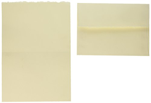 Strathmore ((105-235-1 Full Size Creative Cards, Ivory/Deckle, 50 Cards & Envelopes, 50 Cards & Envelopes (Edge Invitation Deckle)