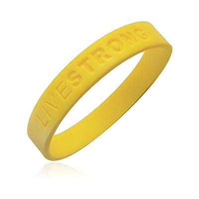 Livestrong Nike Bracelets 3 Pack Adult Size Silicone Wristbands Yellow Live Strong Bracelet Rubber Bracelets Nike