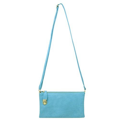 Bag Blue Shoulder Multi Compartment Crossbody Bag Functional Womens Solene qU8Tw16X