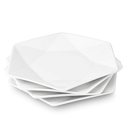 Delling Star-Geometric 11'' White Dinner Plates Set of 4