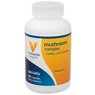 The Vitamin Shoppe Mushroom Complex, Maitake, Reishi Shiitake Antioxidant That Supports The Immune System Healthy Brain 100 Capsules