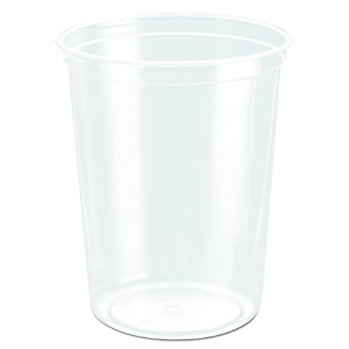 SOLO Cup Company DM32R Bare Eco-Forward RPET Deli Containers, 32 Oz, Clear, Pack of 50 (Case of 10 Packs)