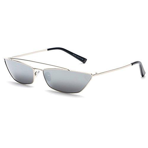 FAGUMA Vintage Rectangle Sunglasses Women men Small Metal Frame Candy Colors Glasses ()