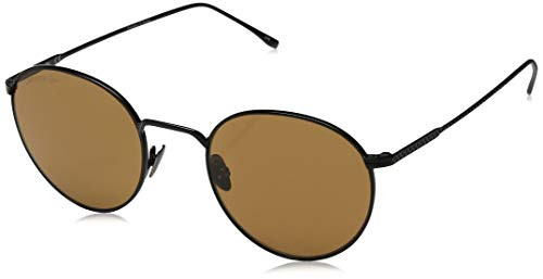 Lacoste Unisex-Adult L202s L202S-001 Round Sunglasses, BLACK, 50 mm (Sunglasses Lacoste Black)