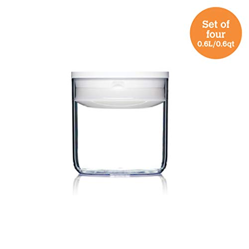 ClickClack Pantry Round Food Storage/Display Canister.6 qt, Set of 4 ()