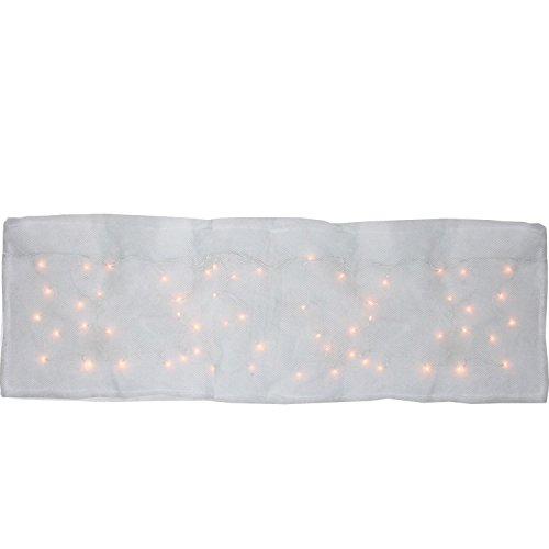 Product Works 8 Function LED Illuminated Snow Blanket for Mantle Or Christmas Village Display Artificial, White Village Scene Christmas Lights