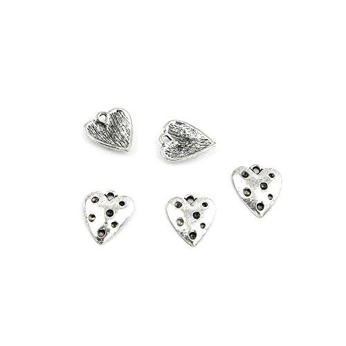 520 Pieces Jewelry Making Charms Retro Silver Tone for Necklace Pendant Bracelet Findings Vintage Bijoux Breloques Bulk 65015 Heart