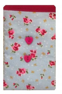 Cute Blue Vintage Flowers Print Apple iPhone 6s sock / Case / Cover / Pouch