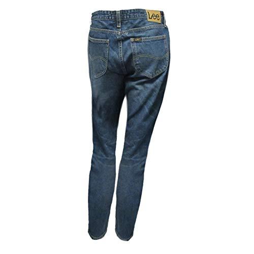 Vintage Lee Straight unita Worn Jeans Tinta Donna A1wXqx7TXa