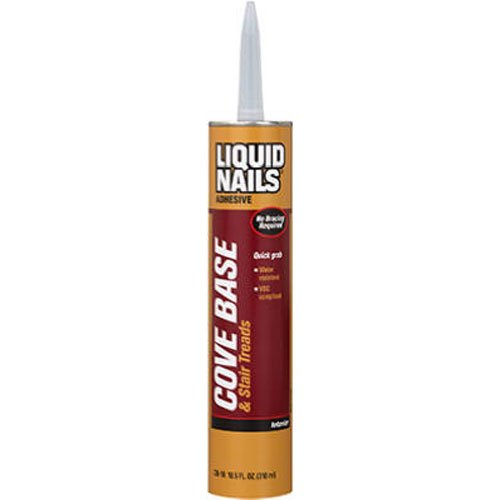 Cove Base Adhesive - LIQUID NAILS CB-10 Liquid Nails Cove Base Adhesive 10 oz Cartridge - 132367