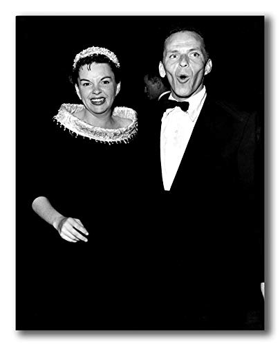 wallsthatspeak Comical Candid Portrait of Frank Sinatra and Judy Garland Printed on 8x10 Poster Wall Art by Movie Star News