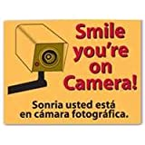 "Smile You're on Camera Sign, 9"" x 12"""