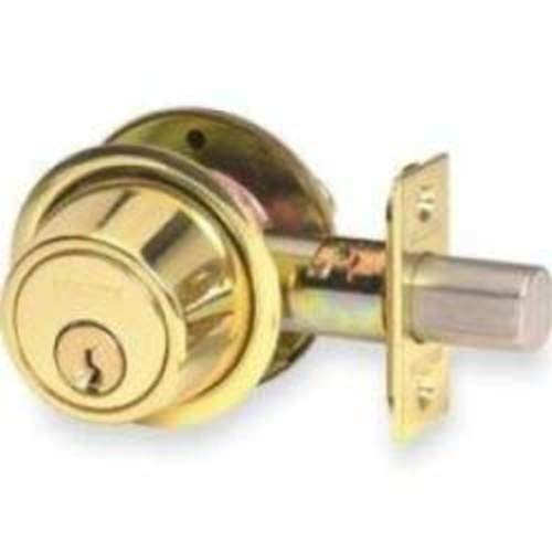 Schlage B563605 B500-Series Single Cylinder Grade 2 Classroom Deadbolt with Adjustable Backset